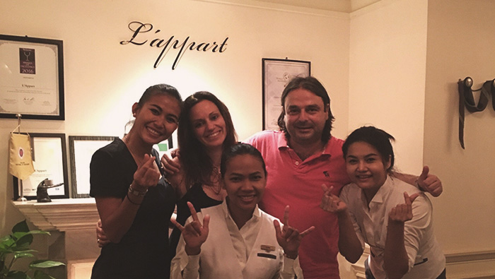 l-appart French restaurant bangkok